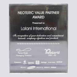 Neoteric Value Partner Award 2001-2002