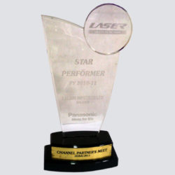 Star Performer FY 2010-11 Award for Lalani Infotech Ltd from Panasonic