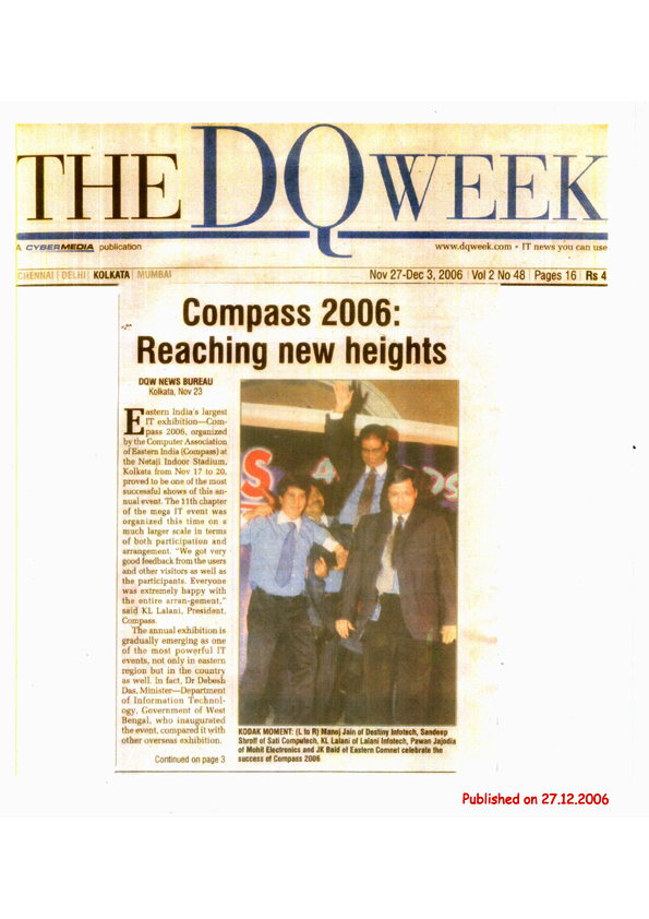 Compass 2006 featured in The DQ Week