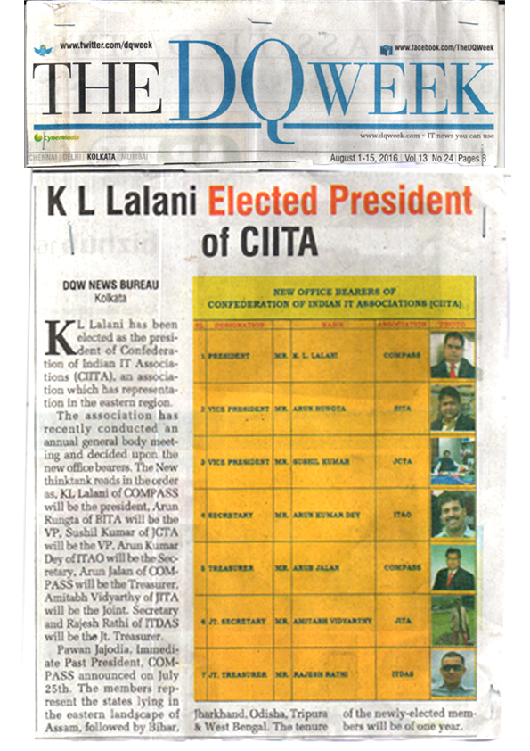 K. L. Lalani elected President of CIITA