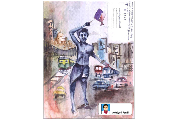 Special Drawing Selected for Lalani e-TECH City's Official Calendar, Art by Arkojayoti Pandit