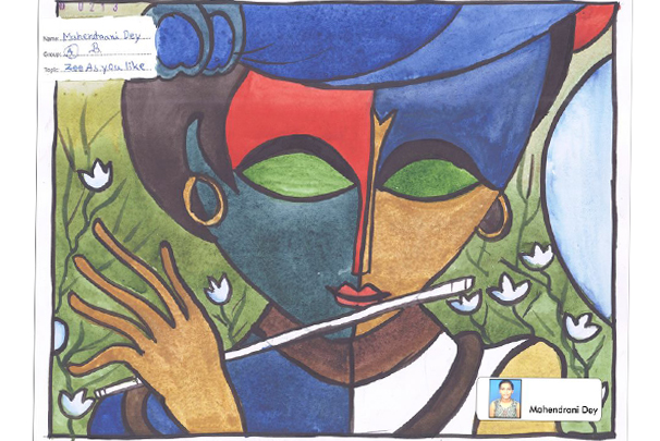 Special Drawing Selected for Lalani e-TECH City's Official Calendar, Art by Mahendrani Dey